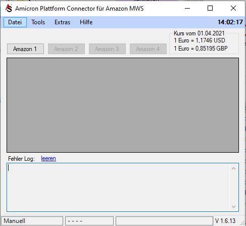 Schnittstelle zu Amazon | Connector & Amicron Faktura